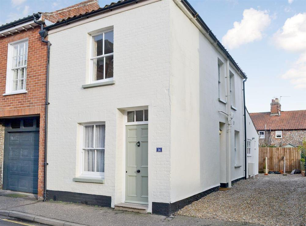 Exterior with off street parking at Pippin Cottage in Holt, Norfolk