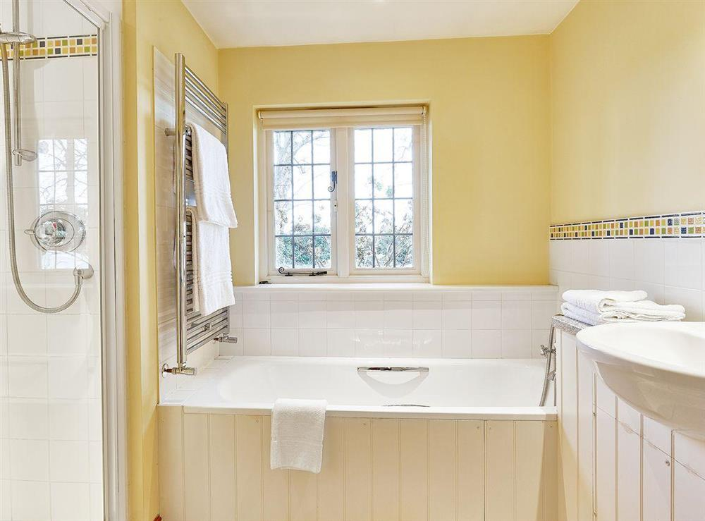 Bathroom at Pippins in Great Hautbois, near Coltishall, Norfolk