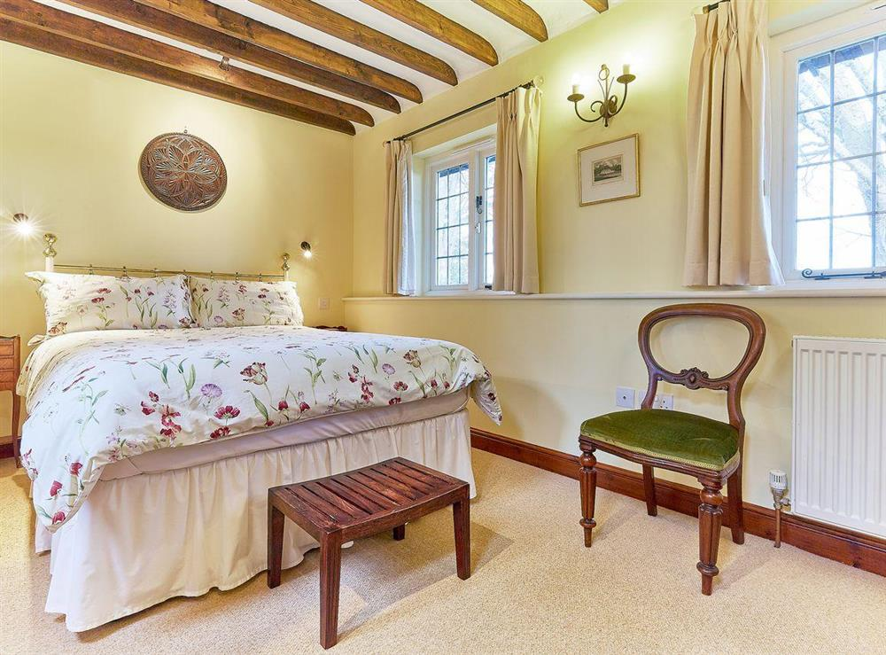 Cosy double bedroom at Pippins in Great Hautbois, near Coltishall, Norfolk