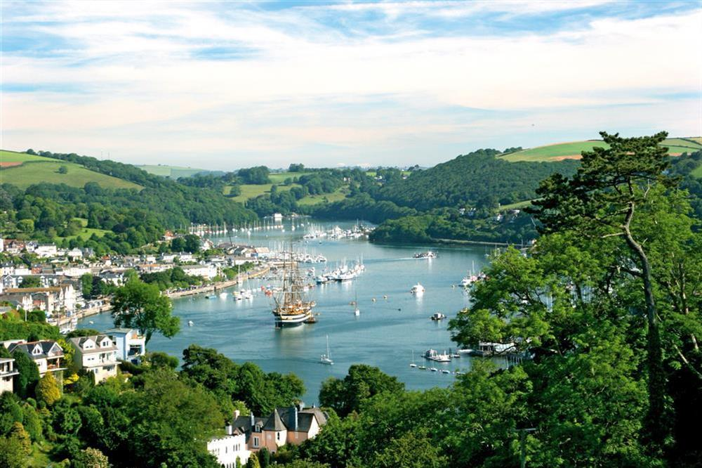 Looking down over Dartmouth and the river at Pixie Cottage in , Dartmouth