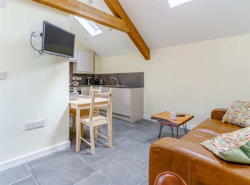 Open plan living space at Plough & Harrow Cottages- Plough and Harrow 2 in Monknash, near Cowbridge, Glamorgan, South Glamorgan