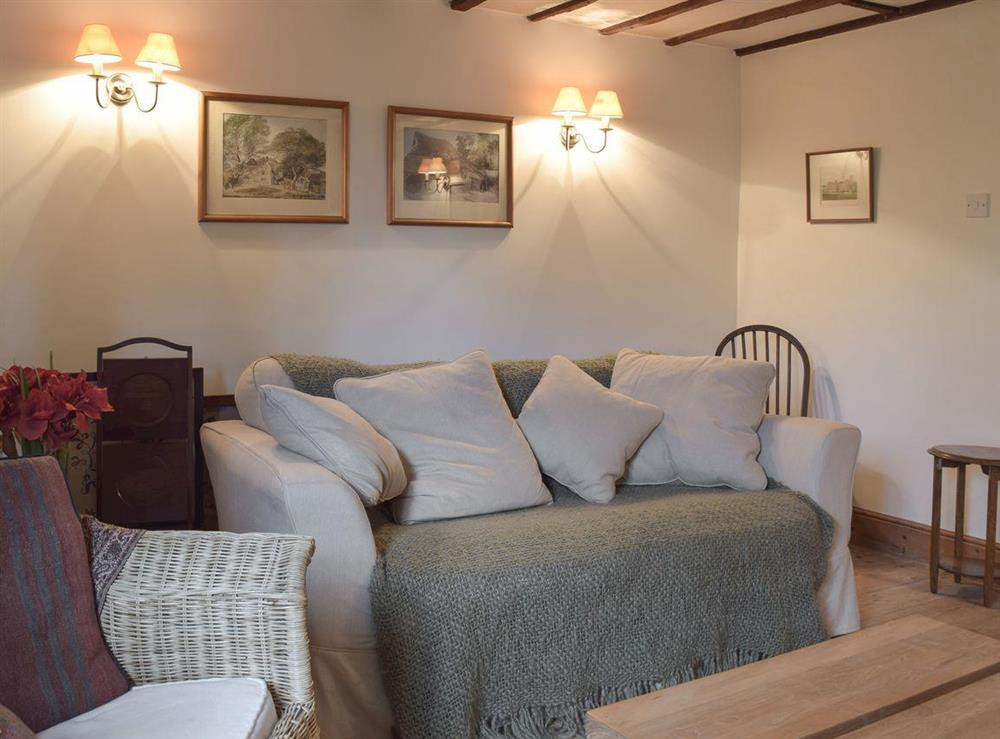 Cosy living room at Pond Cottage in Somerleyton, near Lowestoft, Suffolk