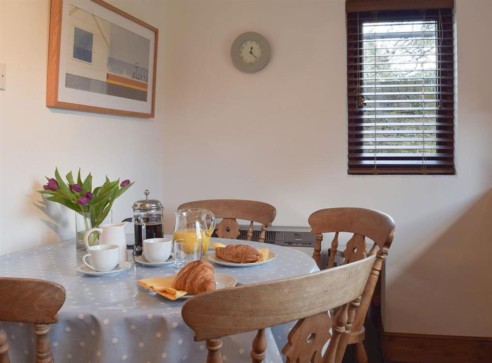 Dining area at Pond Cottage in Somerleyton, near Lowestoft, Suffolk