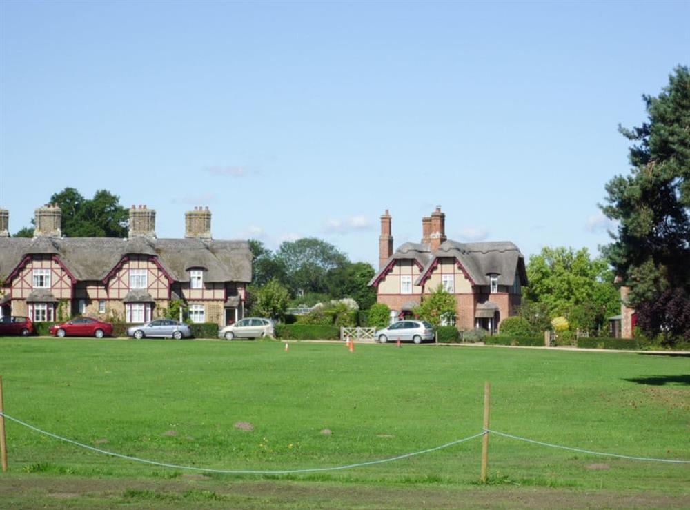 Village green at Pond Cottage in Somerleyton, near Lowestoft, Suffolk
