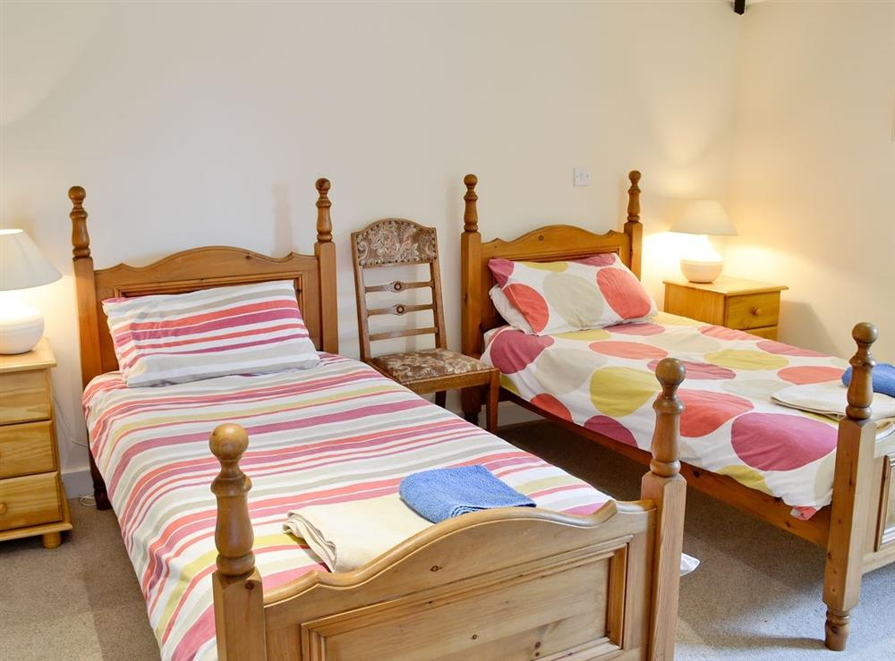 Twin bedroom at Pond in Semley, Shaftesbury, Dorset
