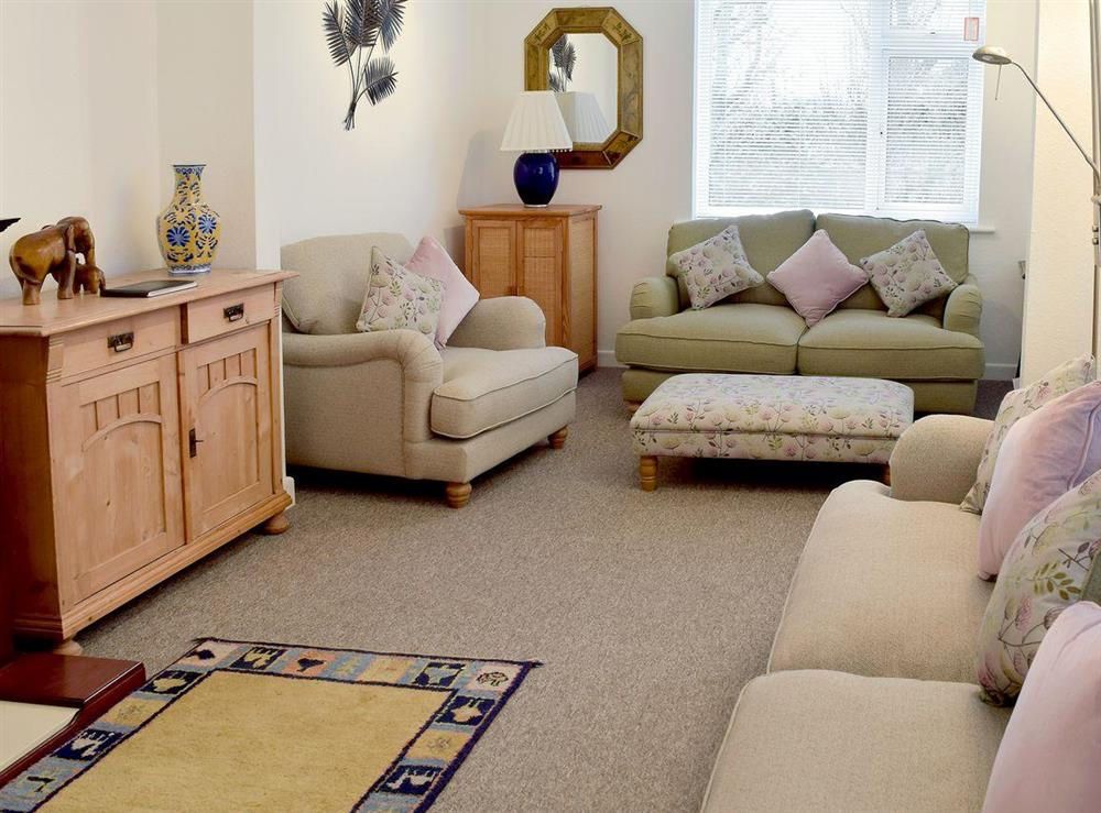 Cosy living room at Poplars in Aldeburgh, Suffolk., Great Britain