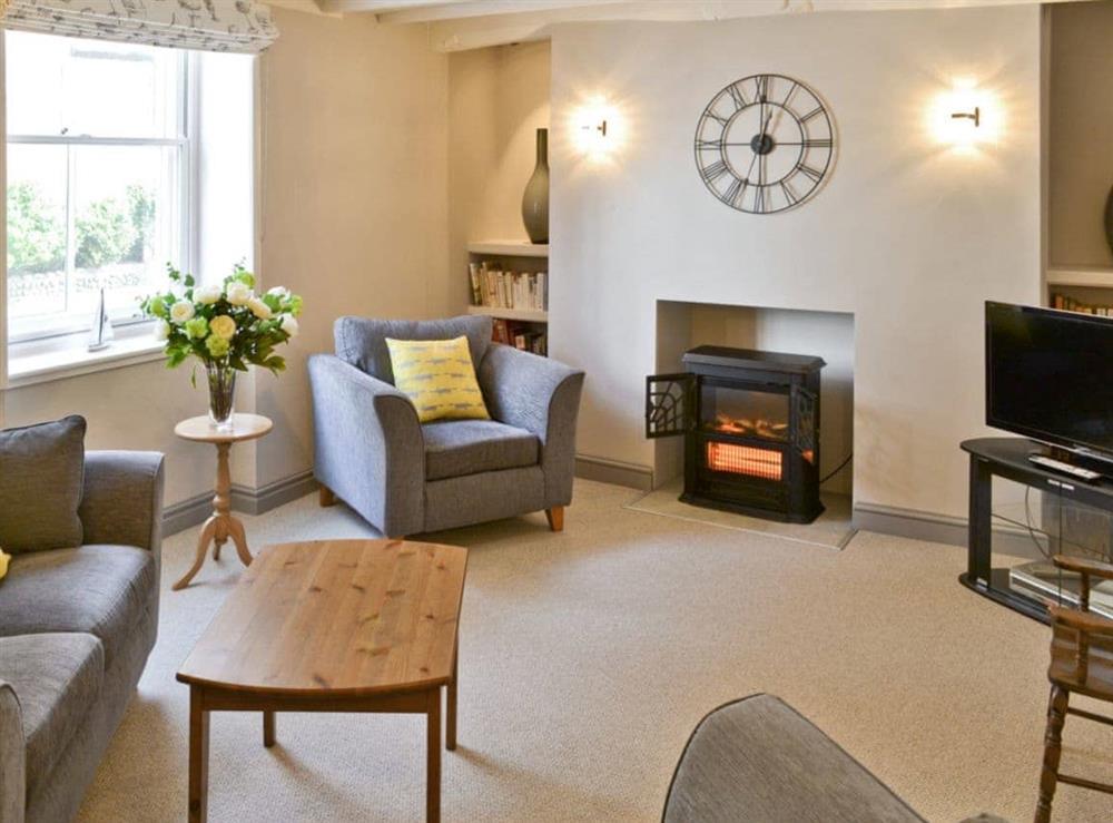 Living room at Poppies in Blakeney, Norfolk., Great Britain