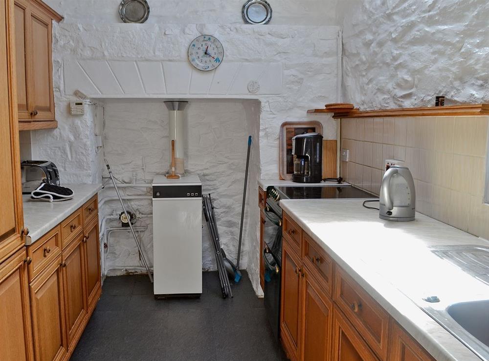 Kitchen at Porth Colmon Farmhouse in Porth Colmon, near Pwllheli, Gwynedd