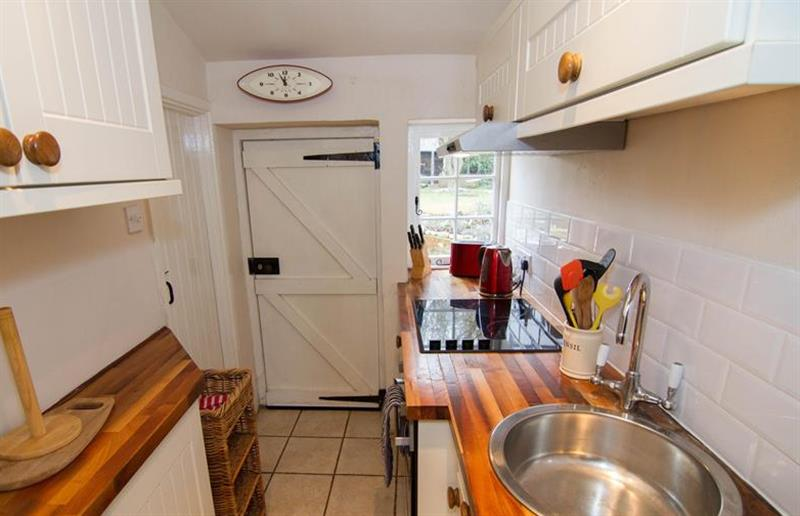 The kitchen at Post Mill Cottage, Burnham Overy Staithe near Kings Lynn, Norfolk