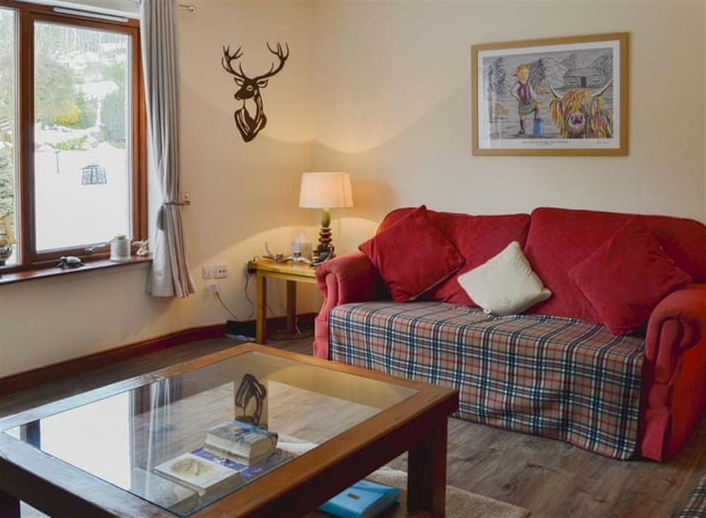 Comfortable living room at Post Office Cottage in Dulnain Bridge, near Grantown-on-Spey, Morayshire