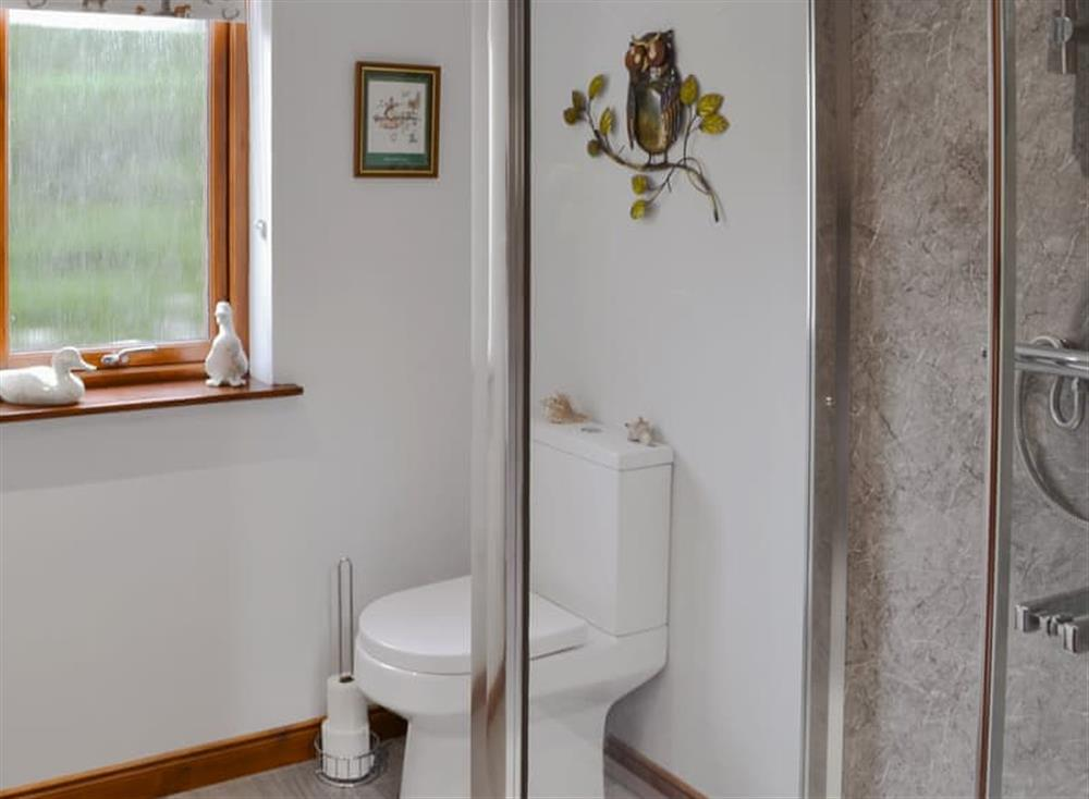 Shower room at Post Office Cottage in Dulnain Bridge, near Grantown-on-Spey, Morayshire