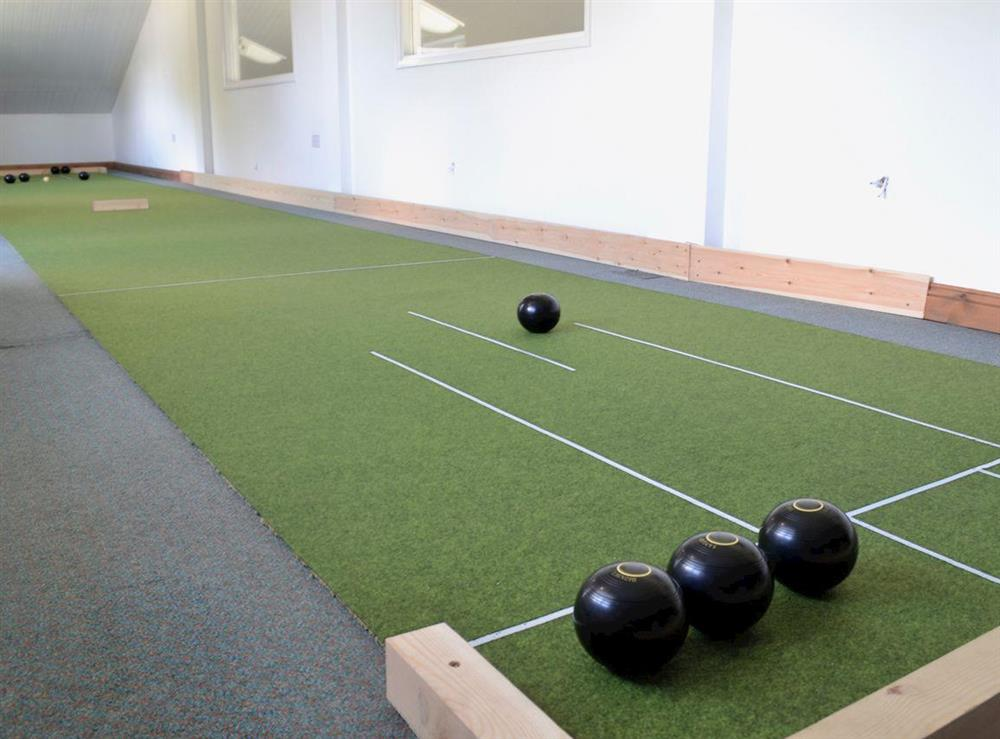 Indoor Bowls at Poulston House in Harbertonford, near Totnes, Devon