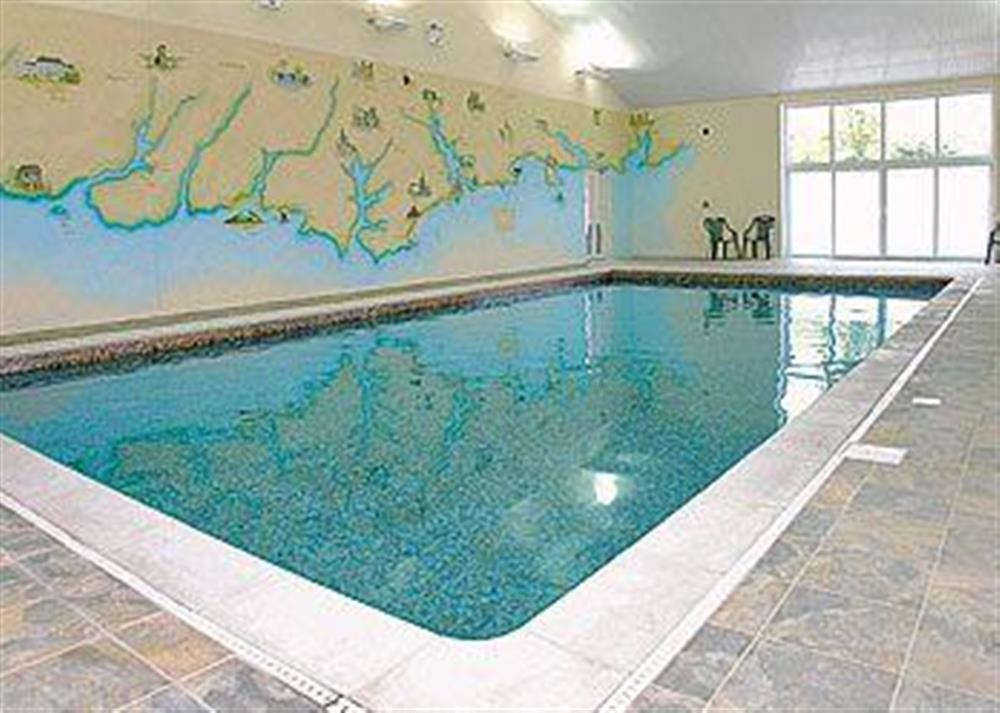 Swimming pool at Poulston House in Harbertonford, near Totnes, Devon