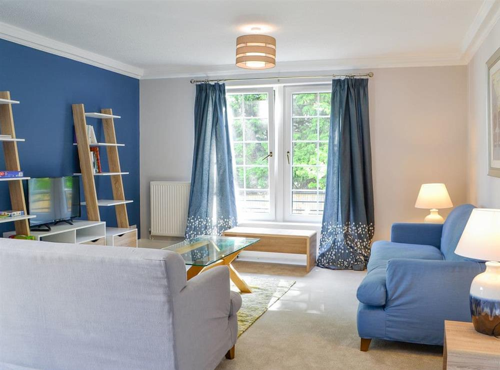 Spacious and welcoming living room at Powderhall Brae in Edinburgh, Midlothian