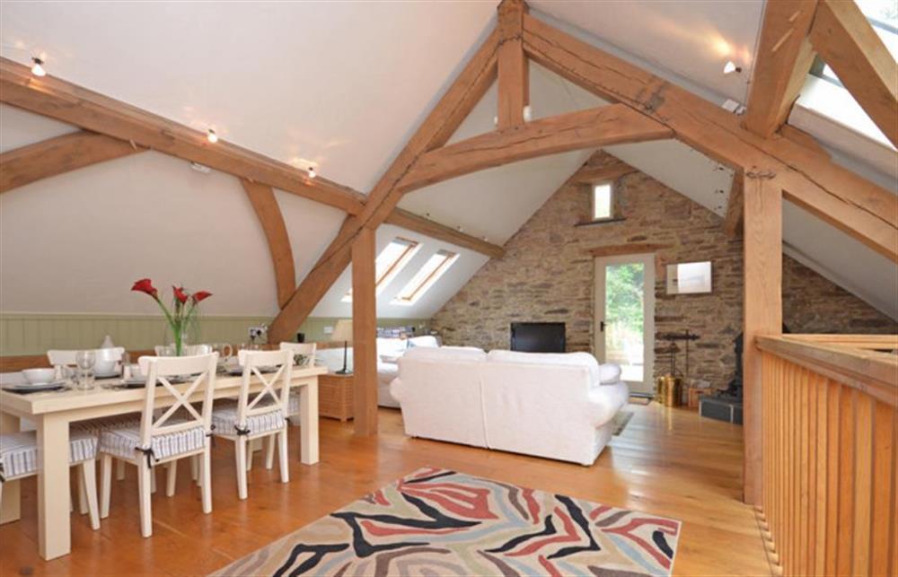 Living area at Preston House Barn, Moreleigh