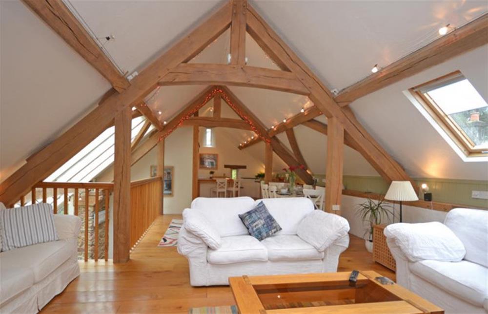 Open plan living  at Preston House Barn, Moreleigh
