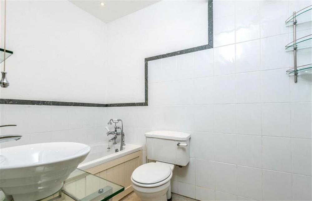 The bathroom with bath.  at Preston House Barn, Moreleigh
