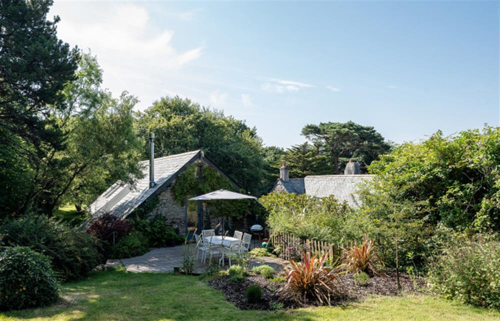 The garden at Preston House Barn, Moreleigh