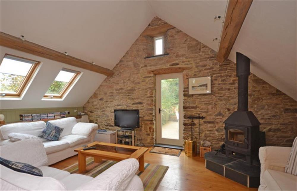 The living room at Preston House Barn, Moreleigh