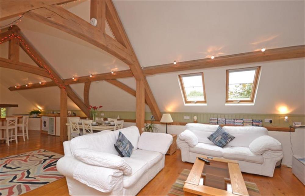 The lounge area at Preston House Barn, Moreleigh