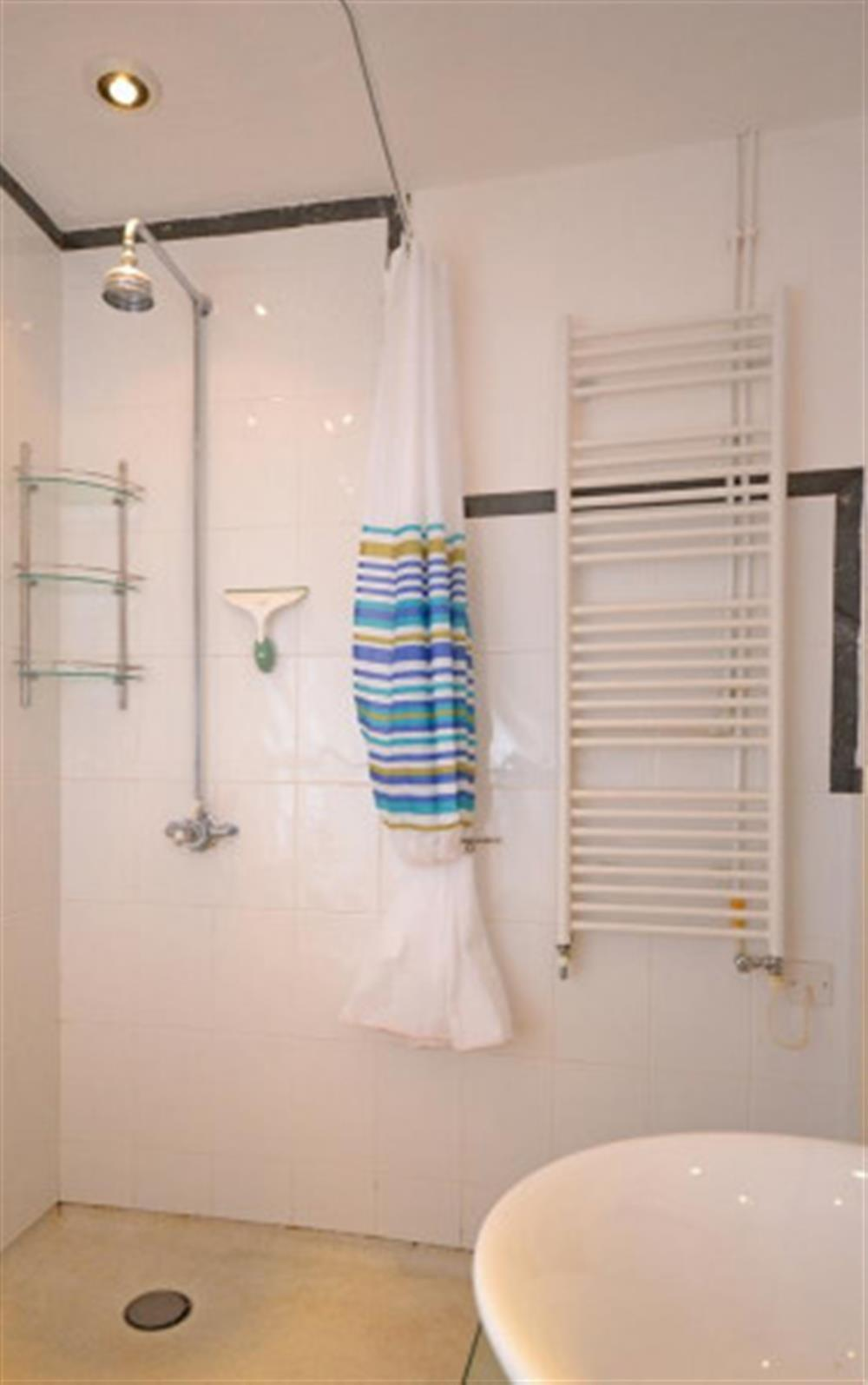 The shower room.  at Preston House Barn, Moreleigh