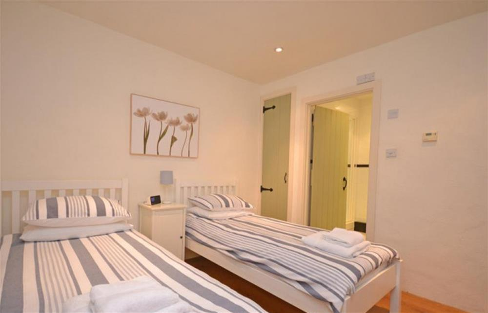 The twin bedroom.  at Preston House Barn, Moreleigh