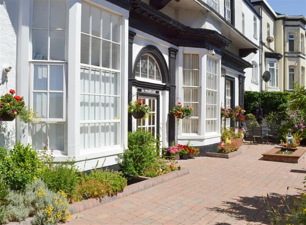 Delightful main entrance at Promenade View in Southport, Merseyside