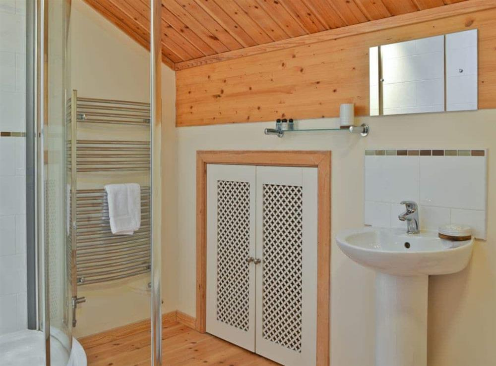 Shower room at Puddleduck in Fritton, near Great Yarmouth, Norfolk