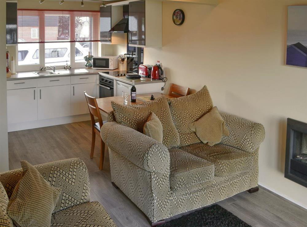 Inviting open plan living space at Puffin Cottage in Wroxham, Norfolk