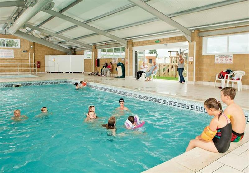 Indoor heated pool at Purn Holiday Park in Bleadon, Somerset
