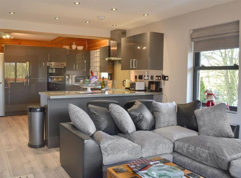 Well presented open plan living space at Quarry Lodge in Munsley, near Ledbury, Herefordshire