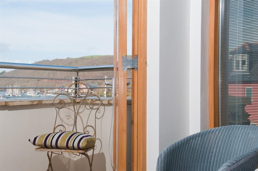 Balcony off Master bedroom at Quay Lodge in 60 Sandquay Road, Dartmouth