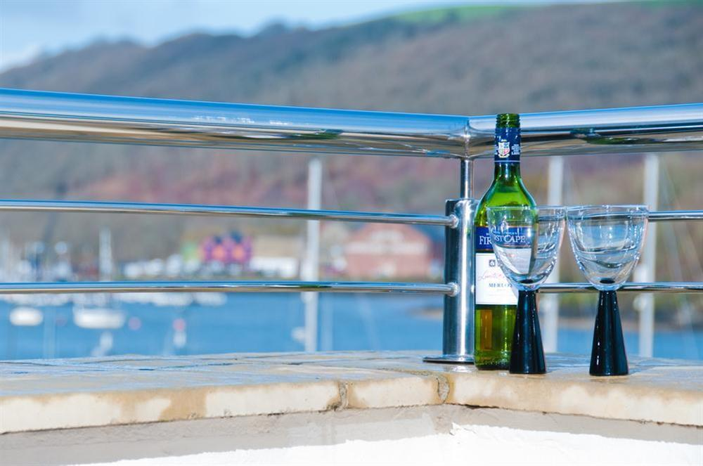 Balcony with lovely views at Quay Lodge in 60 Sandquay Road, Dartmouth