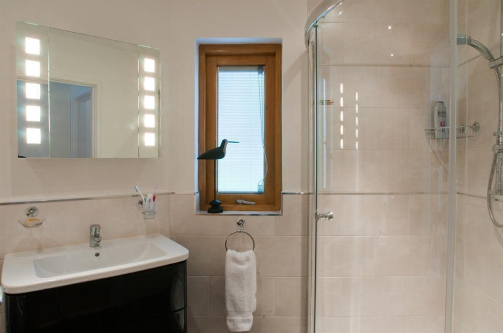 Stunning family bathroom with bath and shower (photo 2) at Quay Lodge in 60 Sandquay Road, Dartmouth
