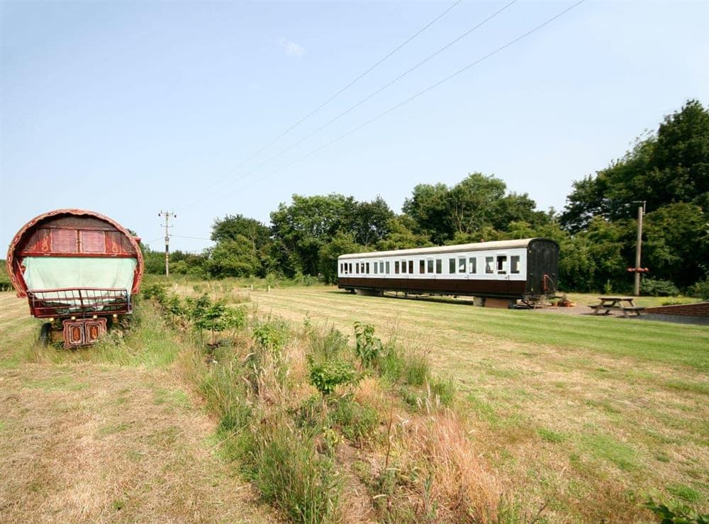 Exterior at Railway Carriage Two in Brockford, near Stowmarket, Suffolk