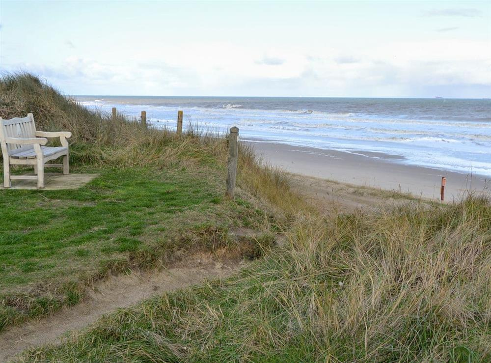 Just a short walk from the sandy beach at Beach Therapy,