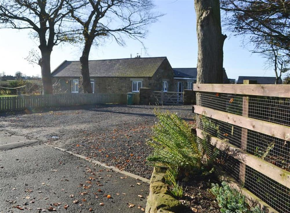 Gravelled driveway with ample parking