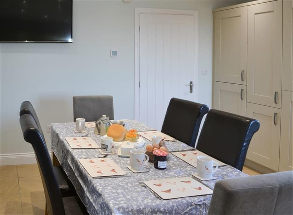 Large family dining table and chairs