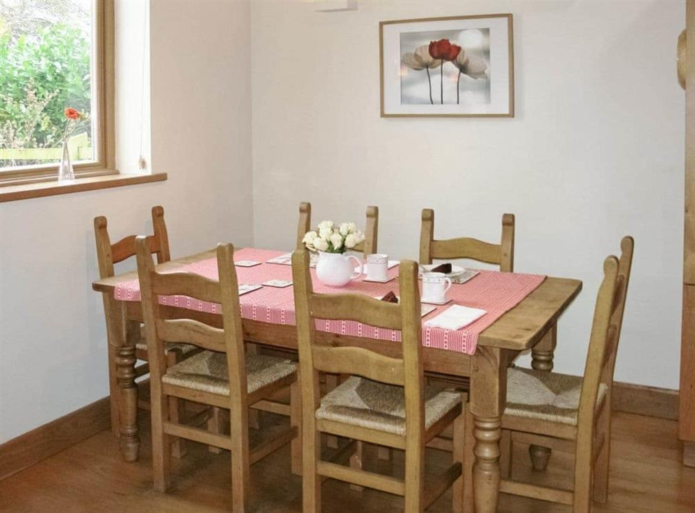 Dining room at Red House Farm Cottage in Whitegate, Cheshire., Great Britain
