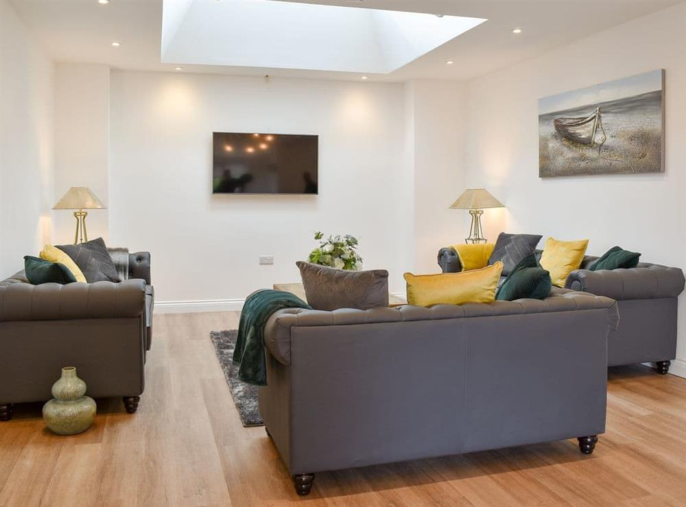 Living area at Redstones Cottage in Greasby, Wirral, Merseyside