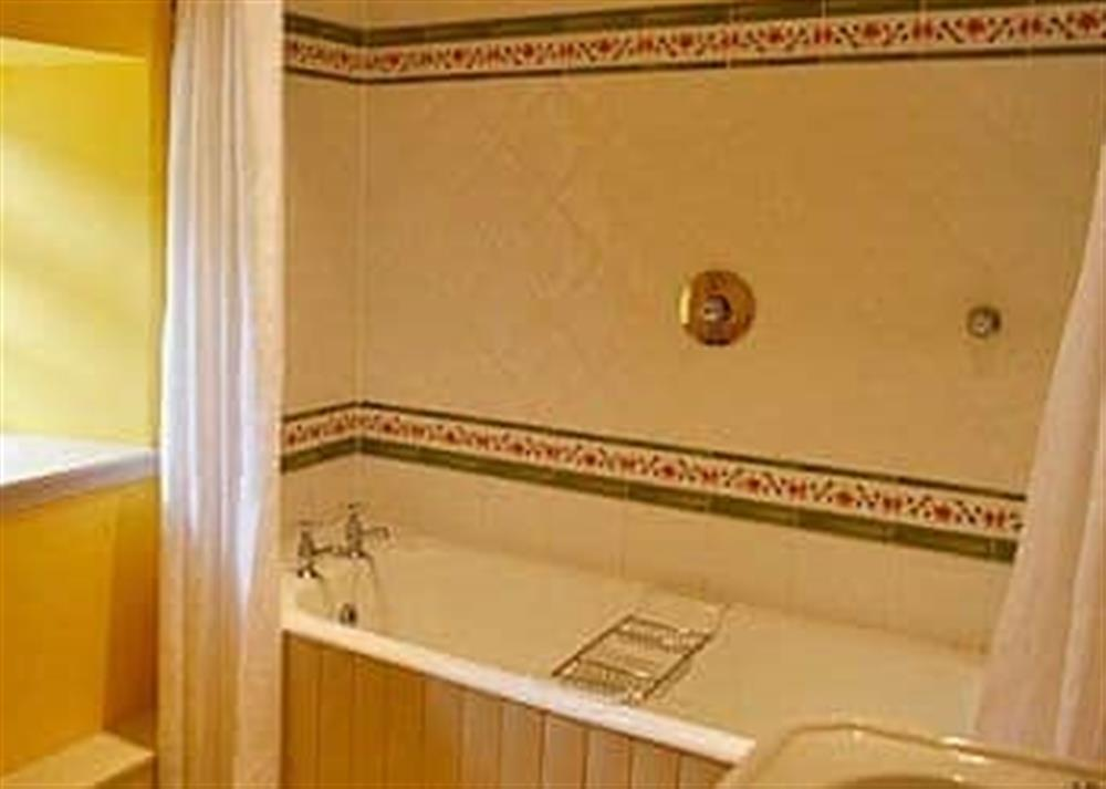 Bathroom at Reid's Cottage in Lairg, Sutherland., Great Britain