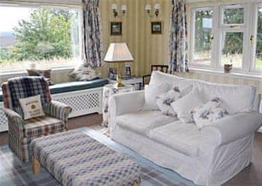Living room at Reid's Cottage in Lairg, Sutherland., Great Britain