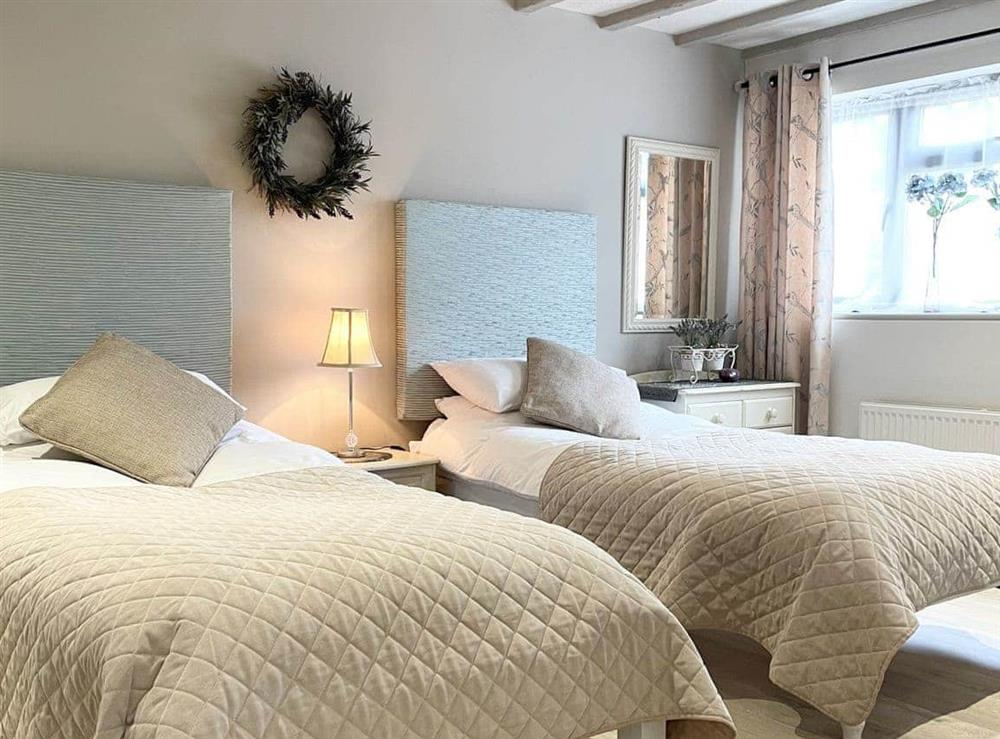 Twin bedroom at Restwell in Southrepps, Norfolk., Great Britain