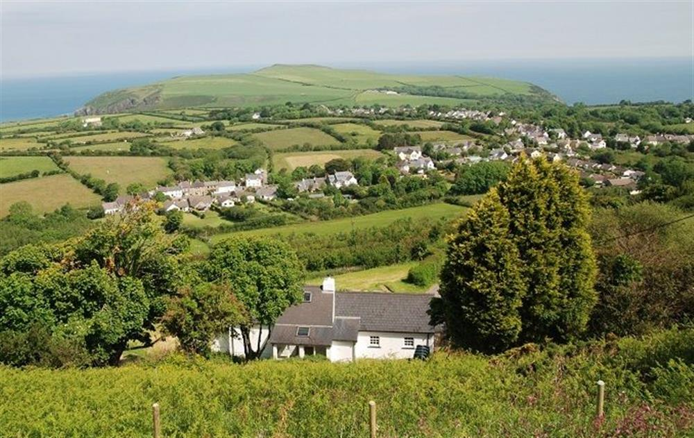 Panoramic views out to sea  (Professional photography to follow) at Rhiwelli, Dinas Cross