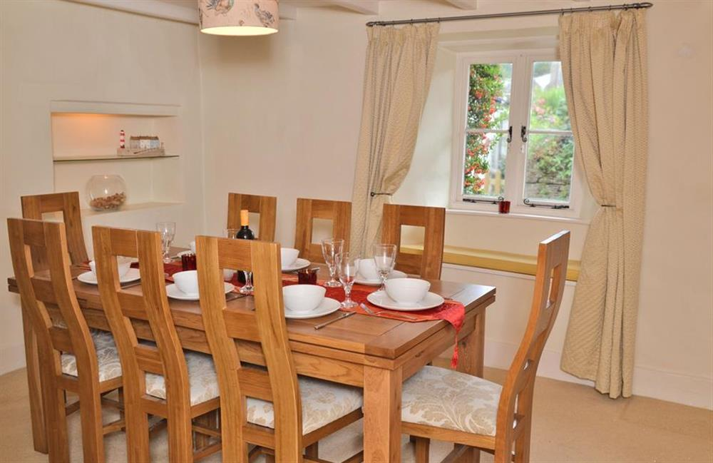 Another view of the dining room just off the lounge at Rill House, Slapton
