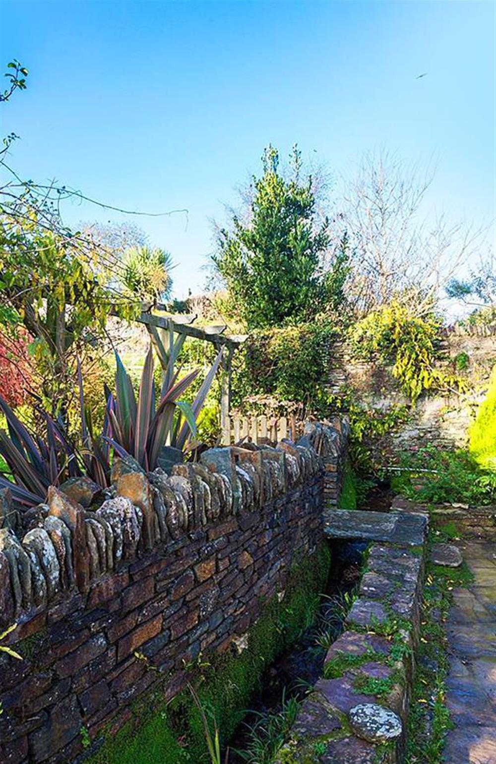 Part of the garden at Rill House at Rill House, Slapton
