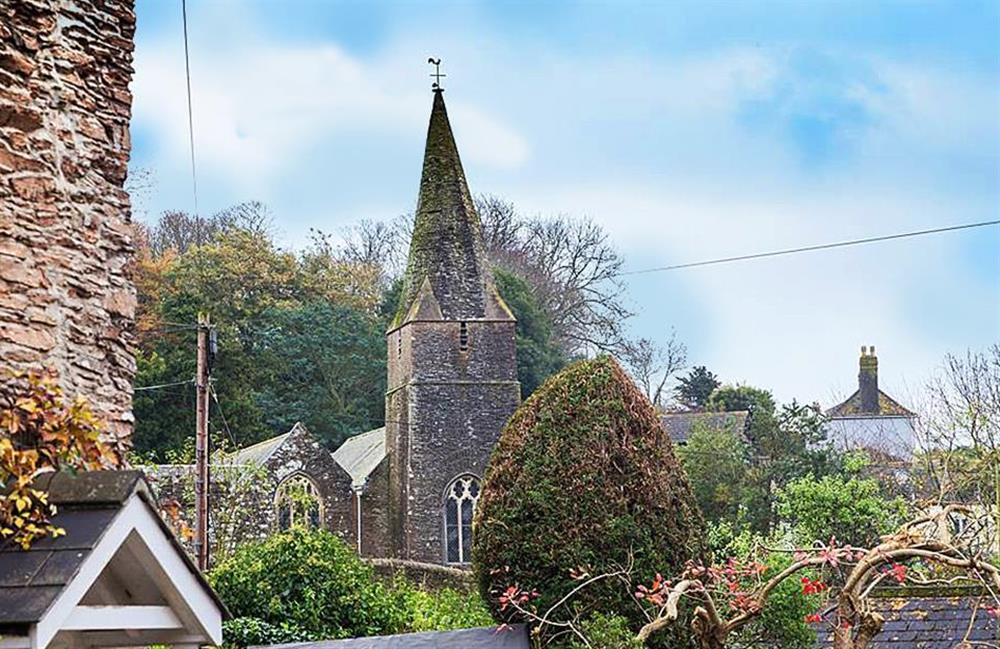 Slapton Church seen from the garden at Rill House, Slapton