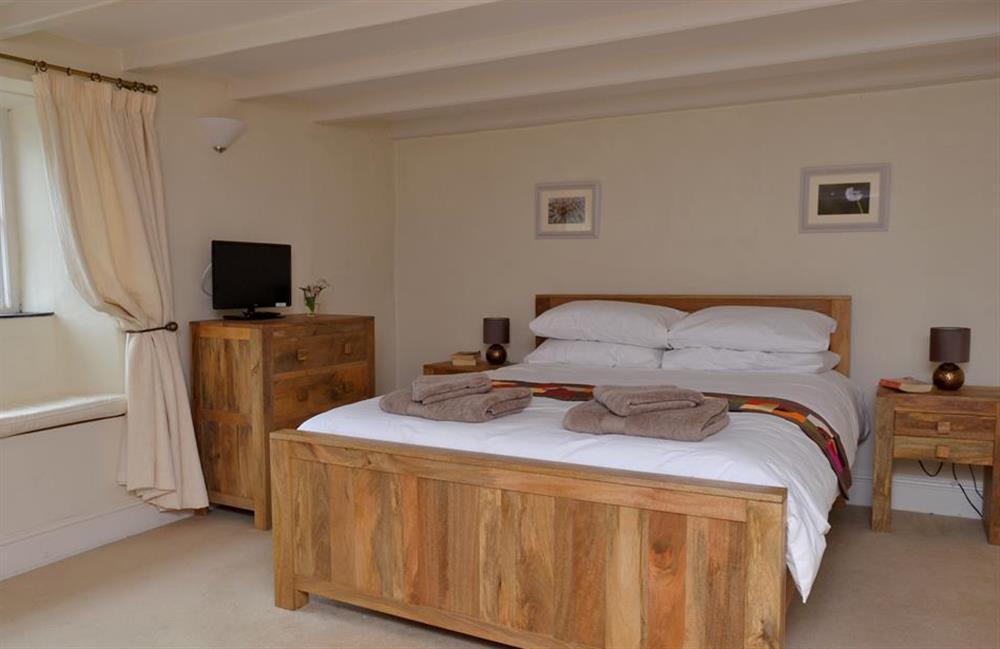 The spacious master bedroom at Rill House, Slapton