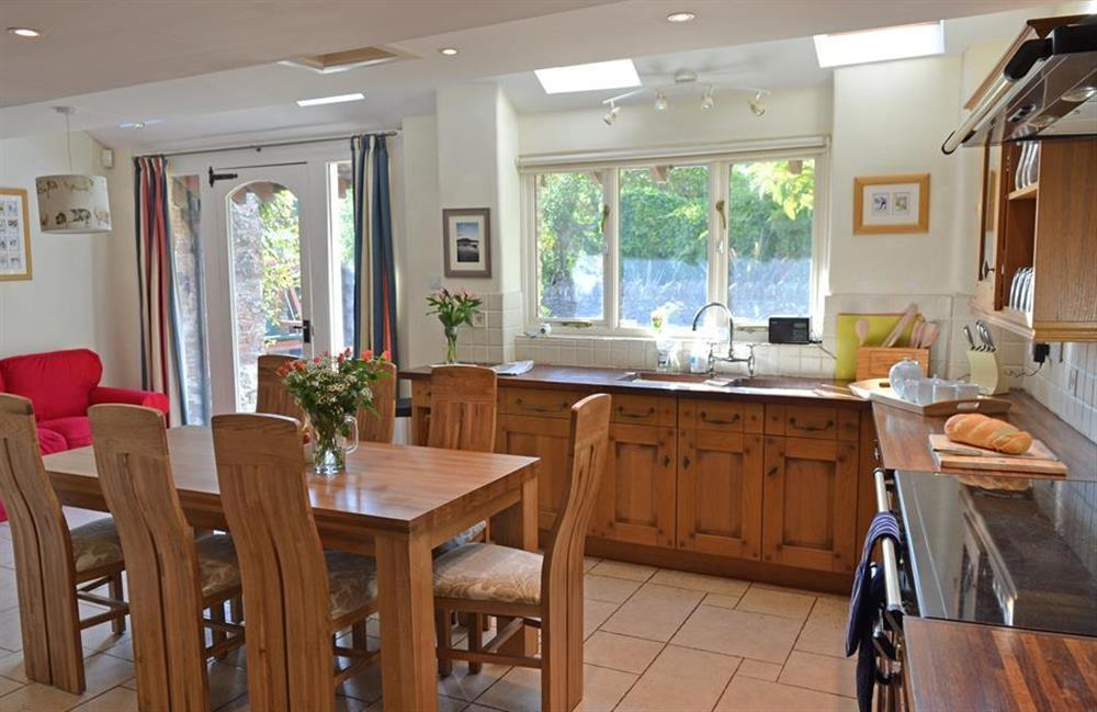 The stunning kitchen breakfast room at Rill House, Slapton