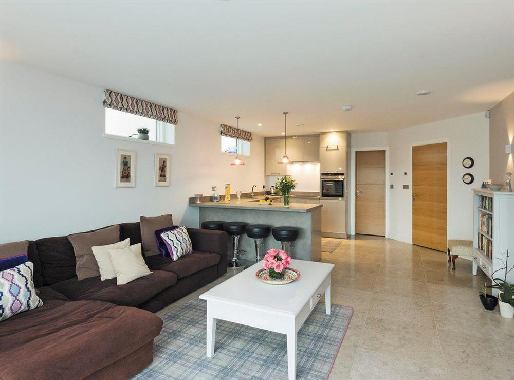Stylishly furnished open plan living space (photo 2) at River Coombe in Dartmouth, Devon